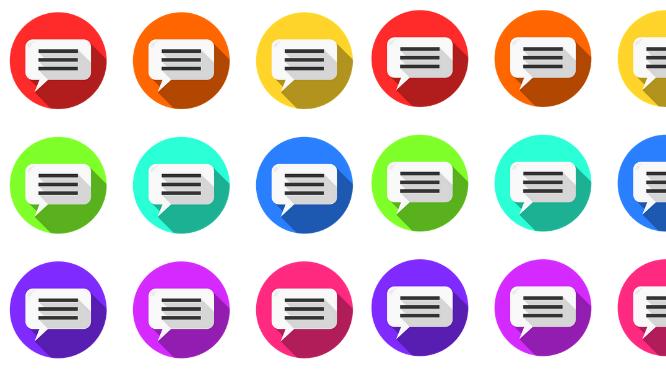 iconos de mensajes