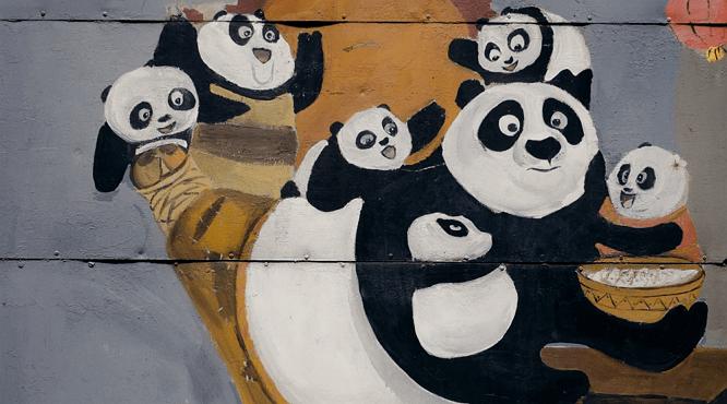 Imagen de un dibujo de Kung fu Panda